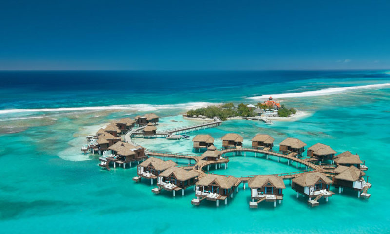 OVER THE WATER VILLAS AND BUNGALOWS of Sandals