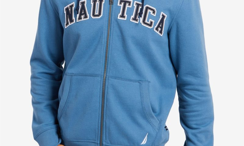 Nautica Men's Full-Zip Logo Hoodie $29 was <strike>$90</strike>