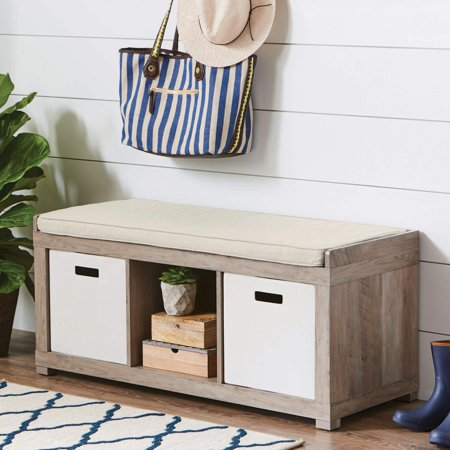 Better Homes and Gardens 3-Cube Organizer Storage Bench, Multiple Finishes for $59 from $90