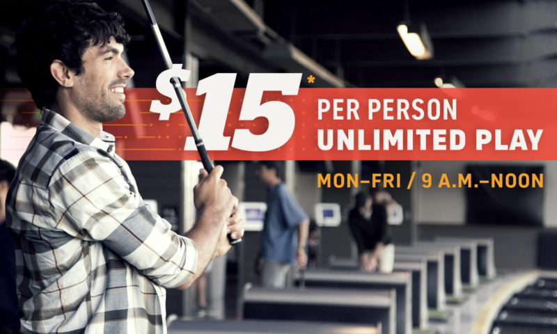 Unlimited Topgolf Play $15 per Person
