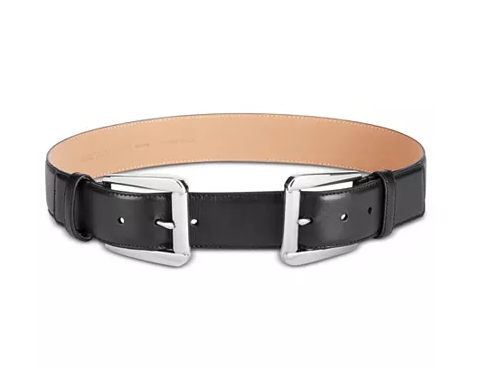 MICHAEL Michael Kors Double-Buckle Pebble Leather Belt for $22 from $88