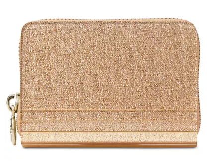 MICHAEL Michael Kors Barbara Metallic Zip-Around Coin Card Case for $36.06 for $148.00