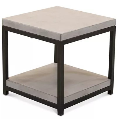 CLOSEOUT! Fiji Aluminum Double Shelf End Table, Created for Macy's for $99.00 from $599.00