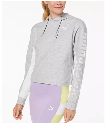 Puma Modern Sport dryCELL Cropped French Terry Hoodie for $19.93 for $50.00