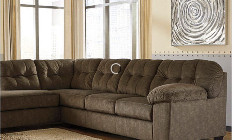 Ashley 2-Pc Sofa and Chaise Sectional $1000