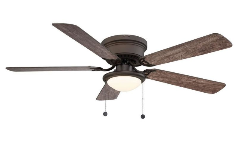 Hugger 52 in. LED Espresso Bronze Ceiling Fan $54