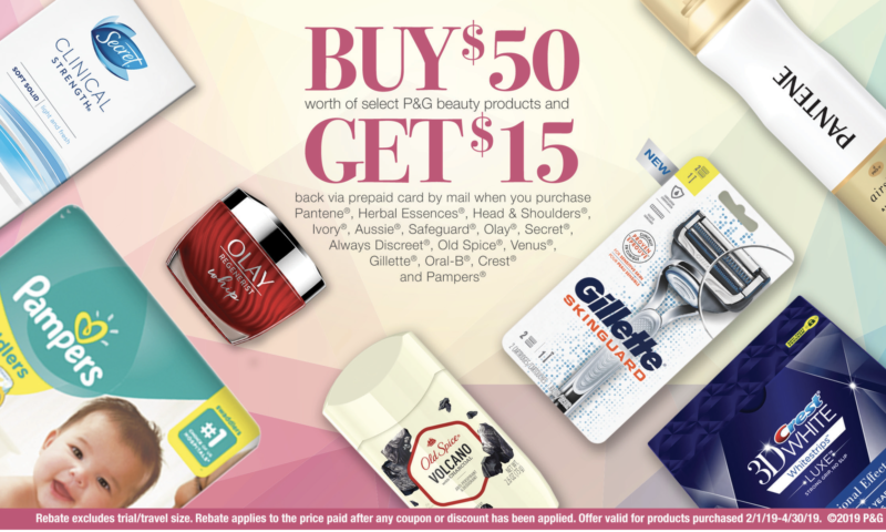 Spring Beauty – get $15 when you buy $50