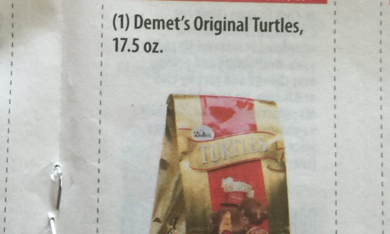 Demet's Original Turtles, 17.5 oz $2.00 off