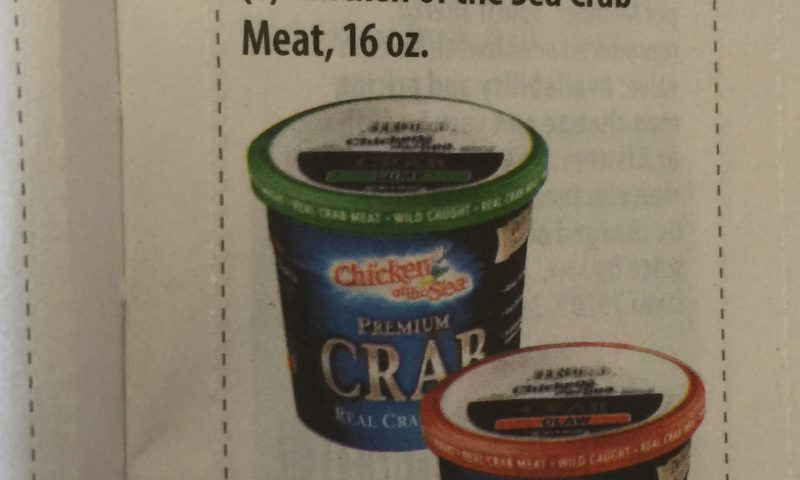 Chicken of the Sea Crab Meat, 16 oz. $1.50 off