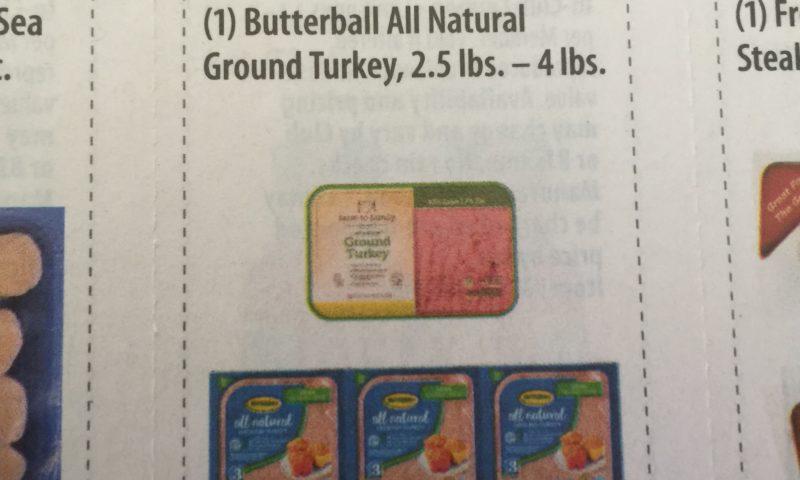 Butterball All Natural Ground Turkey, 2.5 lbs. – 4 lbs.