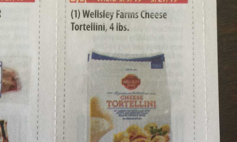 Wellsley Farms Cheese Tortellini, 4 lbs $1.50 off