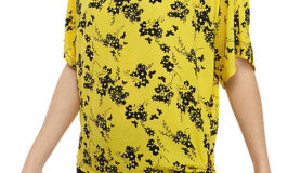 Michael Kors Floral Side Tie Blouse $20 <strike>$68</strike>