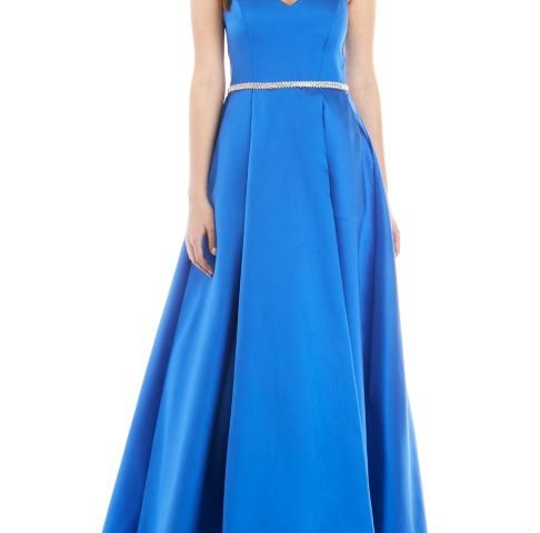 Taffeta Gown with Embellished Waist  $45 was <strike>$140</strike>