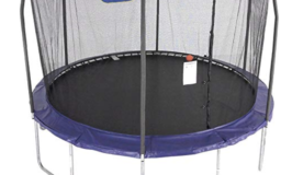 12-Foot Jump N' Dunk Trampoline with Enclosure Net $199