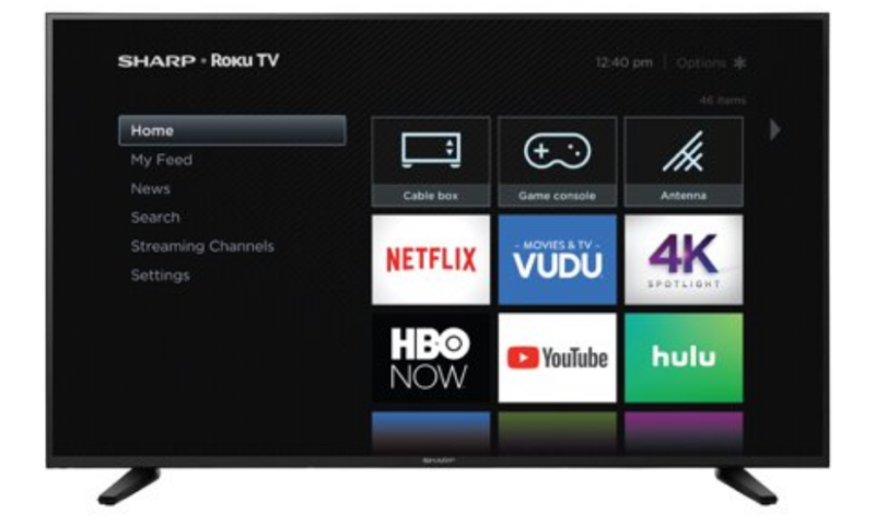 Sharp 58″ Class 4K Ultra HD  HDR Roku Smart LED TV $308