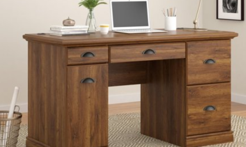 Computer Desk with Filing Drawers $99 <strike>$129</strike>