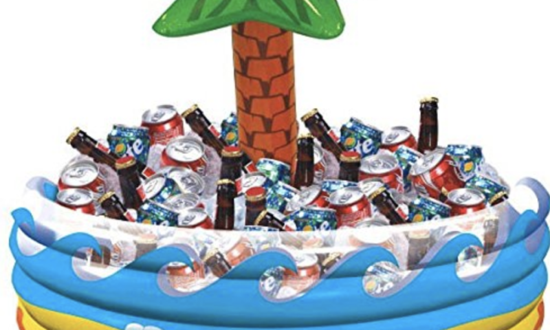 Palm Tree Oasis Inflatable Party Cooler $12
