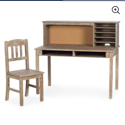 Guidecraft Kids Media Writing Desk & Chair Set – Weathered Wood for $250 from $278