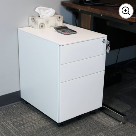 Brands Rolling Mobile File Cabinet Pedestal with Keyed Lock for $135 from $212