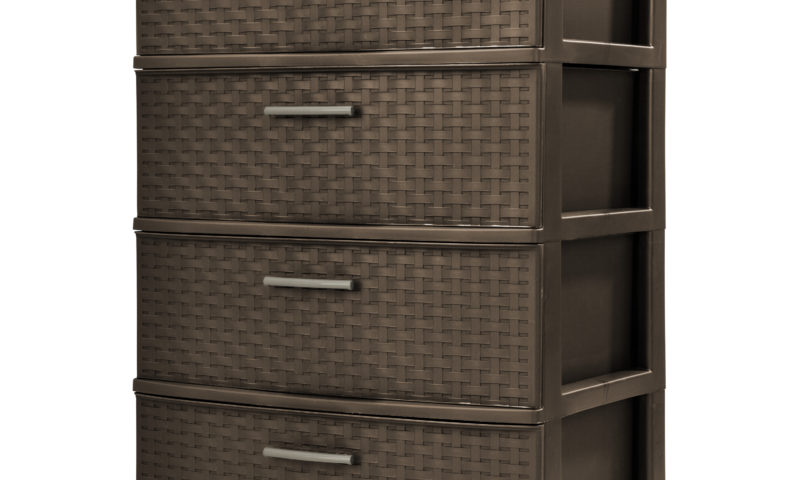 4 Drawer Wide Weave Tower $29