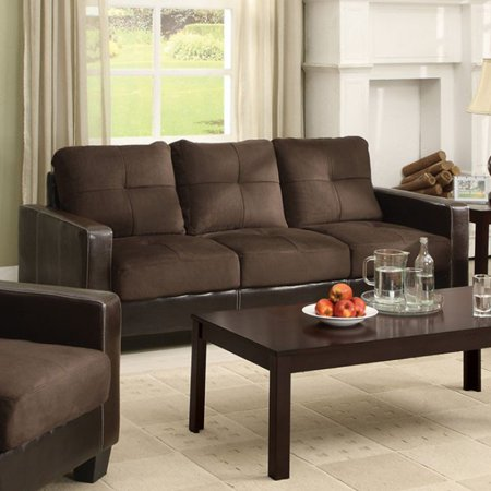 Contemporary Style Sofa in Chocolate and Espresso $371