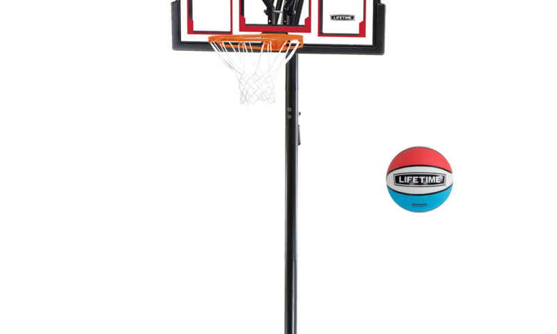 Lifetime Adjustable Portable Basketball Hoop (Rubber Basketball Included) $149 <strike>$200</strike>
