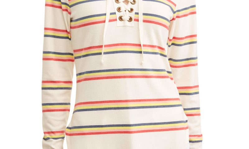 Bright Striped Long Sleeve T-Shirt $1