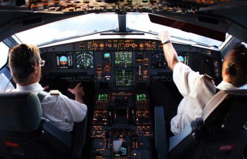 How do pilots steer an airplane?