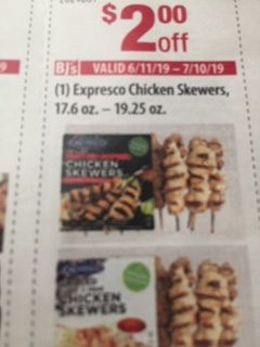 $2 Off on Expresco Chicken Skewers 17.6 oz. – 19.25 oz.