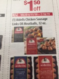$1.50 Off Aidells Chicken Sausage Links OR Meatballs, 32 oz.