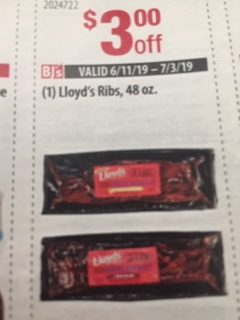 $3 Off Lloyd's Ribs, 48 oz.