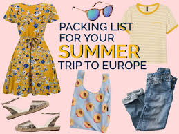 What to Pack for a Europe Trip