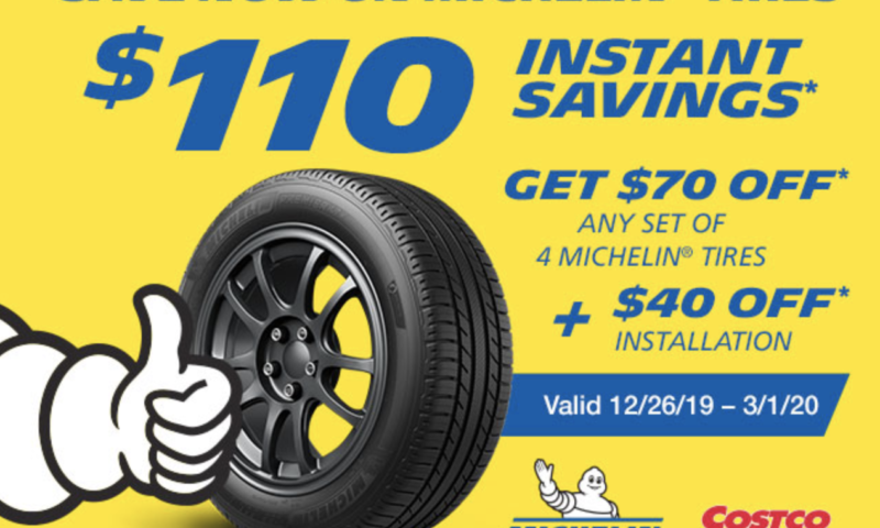 Buy 4 Michelin Tires & Get $110 Off