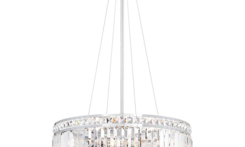 Light Chrome Crystal Pendant 60% off