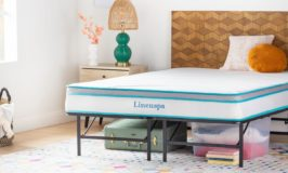 LinenSpa 8″ Memory Foam and Innerspring Hybrid Mattress with Optional Frame $103