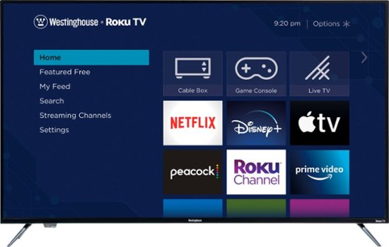 Westinghouse – 58″ Class LED 4K UHD Smart Roku TV $349
