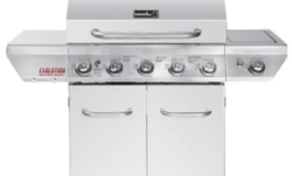 5-Burner Propane Gas Grill in Stainless Steel with Side Burner and Infrared Technology $100 off