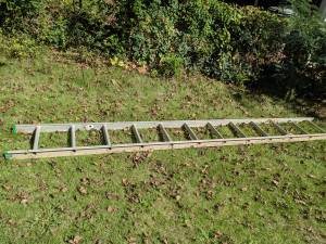 Free – half an extension ladder – aluminum is now Free