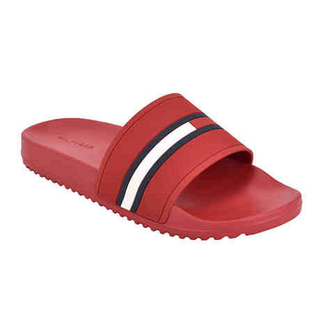 """Tommy Hilfiger Sandals  <span style=""""color:green"""">$13.00</span>  <strike><span style=""""color:red"""">$24.00</span></strike>"""