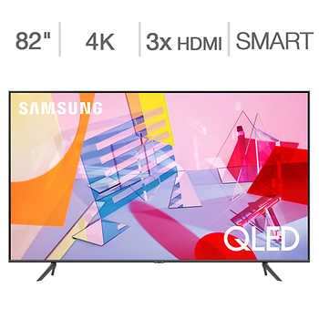 """Samsung 82″ Class – Q6DT Series – 4K UHD QLED LCD TV – $100 Allstate Protection Plan Bundle Included    <span style=""""color:green"""">$1599.99</span>  <strike><span style=""""color:red"""">$1799.90</span></strike>"""