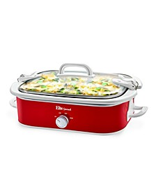 """3.5 Quart Casserole Slow Cooker with Locking Lid  <span style=""""color:green"""">$43.99</span>  <strike><span style=""""color:red"""">$74.00</span></strike>"""