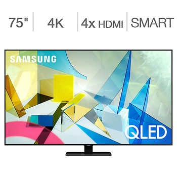"""Samsung 75″ 4K UHD QLED LCD TV – $100 Allstate Protection Plan Bundle Included    <strike><span style=""""color:red"""">$1999.90</span></strike>   Now <span style=""""color:green"""">$1799.97</span>"""