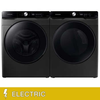 """Samsung 4.5 cu. ft. Front Load Washer and 7.5 cu. ft. Smart Dial Electric Dryer with Super Speed Wash and Dry Laundry Package    <span style=""""color:green"""">$1499.99</span>  <strike><span style=""""color:red"""">$1999.99</span></strike>"""