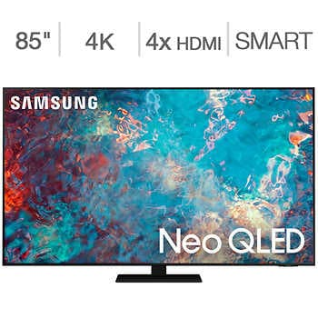 """Samsung 85″ Class 4K UHD Neo QLED LCD TV – Allstate Protection Plan Bundle Included    <strike><span style=""""color:red"""">$3299.90</span></strike>   Now <span style=""""color:green"""">$2999.99</span>"""