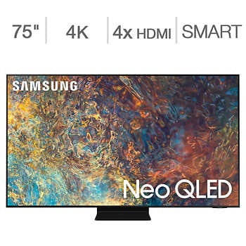 """Samsung 75″ Class Neo QLED LCD TV – Allstate Protection Plan Bundle Included    <strike><span style=""""color:red"""">$2999.90</span></strike>   Now <span style=""""color:green"""">$2599.99</span>"""