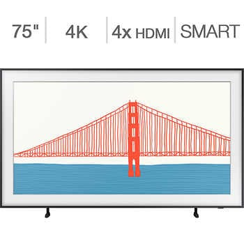 """Samsung 75″ Class – The Frame Series – 4K UHD QLED LCD TV – 24 Month Frame Art Store Subscription Credit Included    <strike><span style=""""color:red"""">$2699.90</span></strike>   Now <span style=""""color:green"""">$2199.99</span>"""