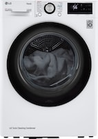 """LG – 4.2 cu ft Stackable Electric Dryer with Dual Inverter HeatPump – White  <strike><span style=""""color:red"""">$1199.90</span></strike>   Now <span style=""""color:green"""">$899.90</span>"""